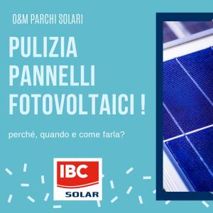 Pulizia pannelli fotovoltaici- IBC Solar Projects